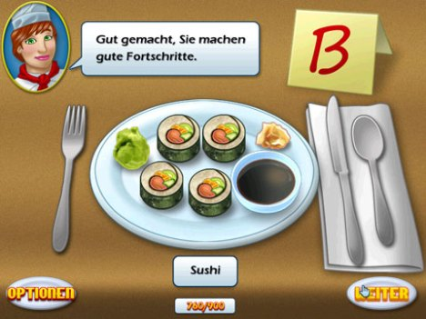 Cooking Academie, Rezept Sushi